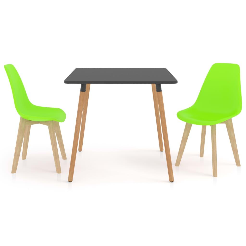 Ensemble de salle à manger 3 pièces vert