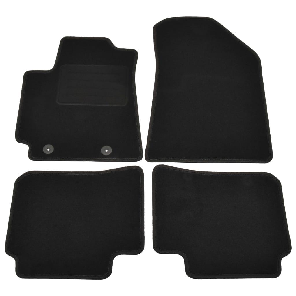 Ensemble de 4 tapis de voiture pour Hyundai I10 III