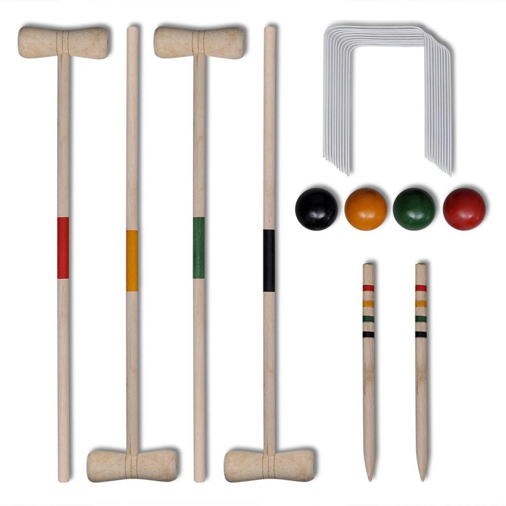 Деревянный набор для крокета на 4 игрока