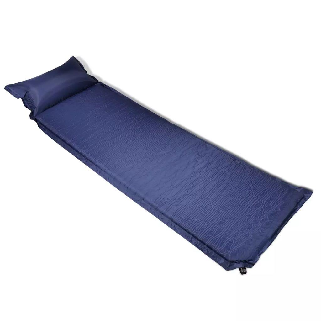 Надувной матрас 6 x 66 x 200 см синяя надувная подушка