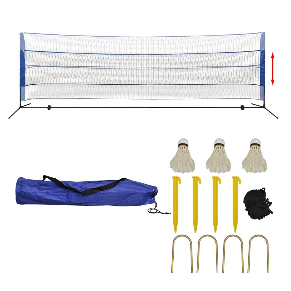 Комплект сетки для бадминтона с воланами 500x155 см