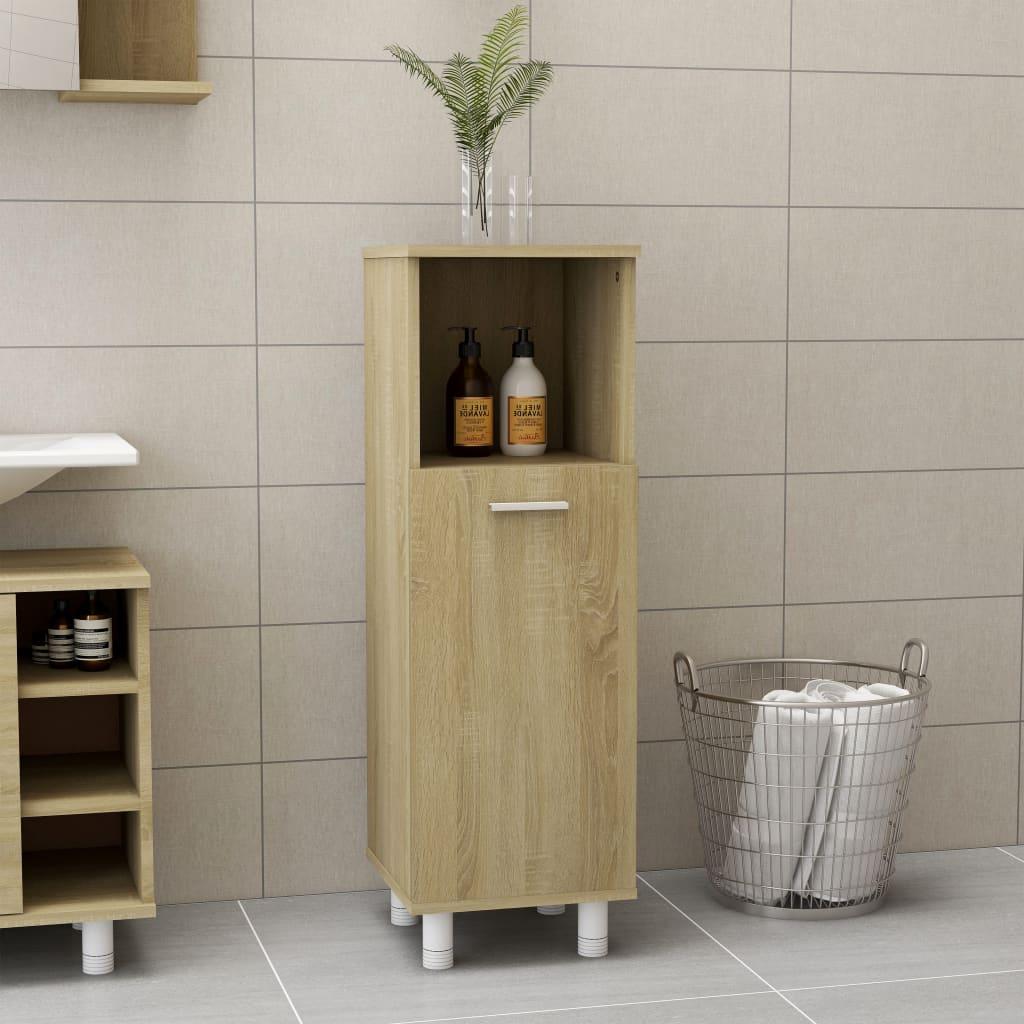 Meuble de salle de bain Sonoma Oak 30x30x95 cm aggloméré