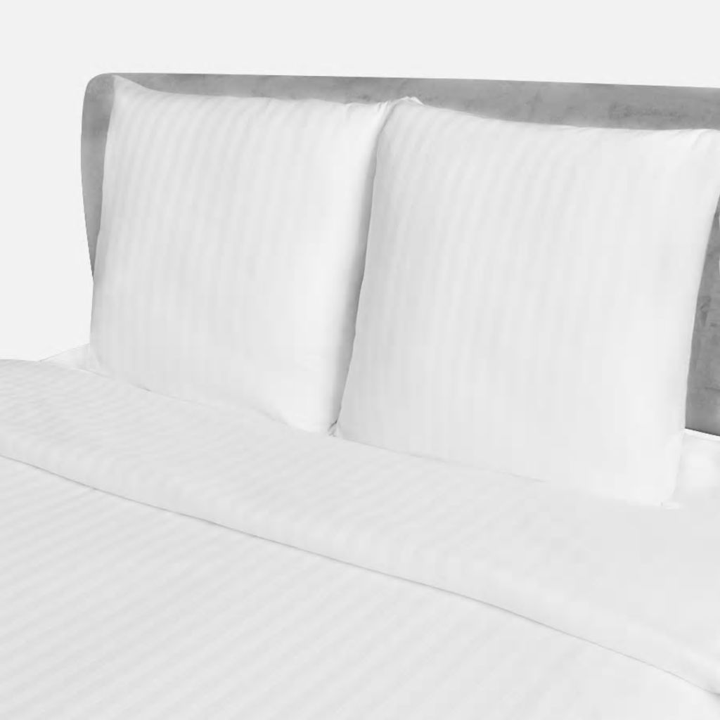 Βαμβακερό σατέν ριγέ παπλωματοθήκη & 2 μαξιλαροθήκες 200x200 / 80x80cm