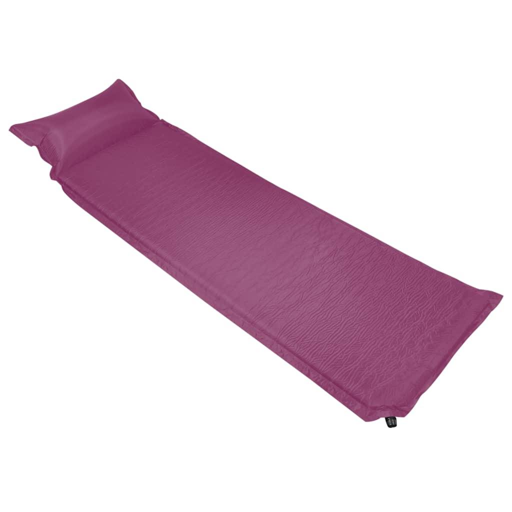 Надувной матрас с подушкой 66х200 см Розовый