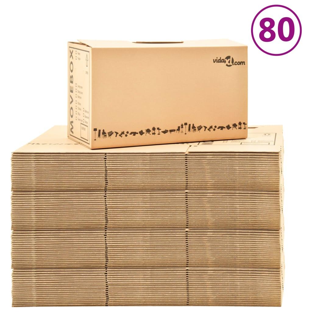 Κινούμενα κουτιά Χαρτοκιβώτιο XXL 80 τεμ 60x33x34 εκ