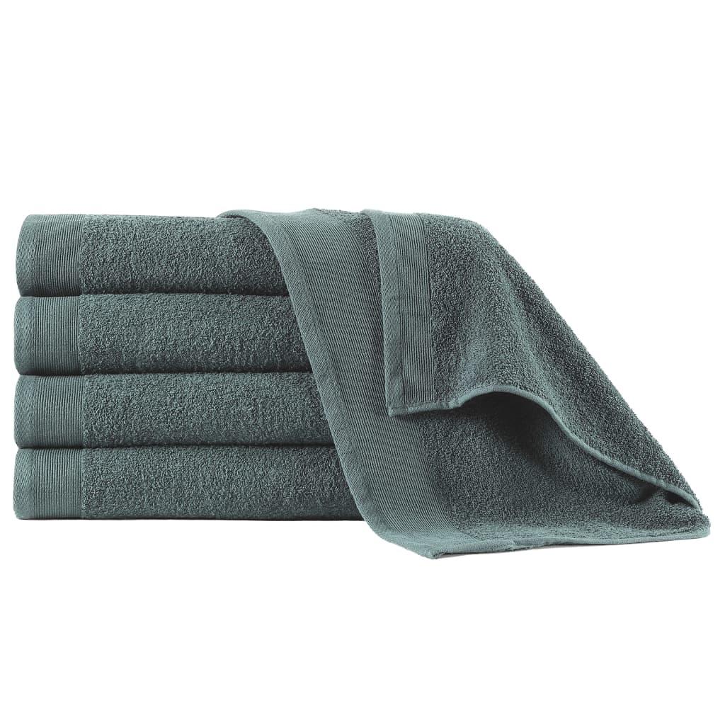 Полотенца для душа 5 шт Хлопок 450 г / м70 140xXNUMX см Зеленый