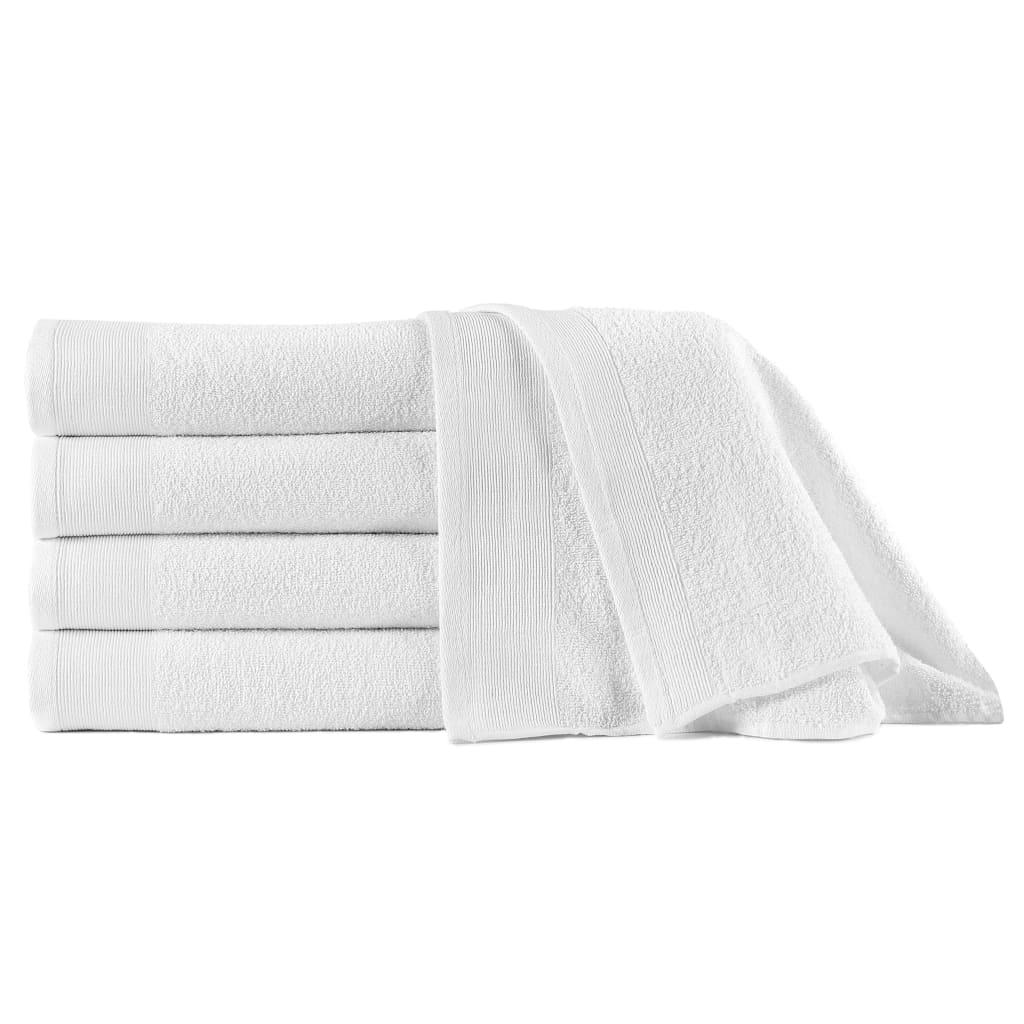 シャワータオル5本コットン450gsm 70x140cmホワイト