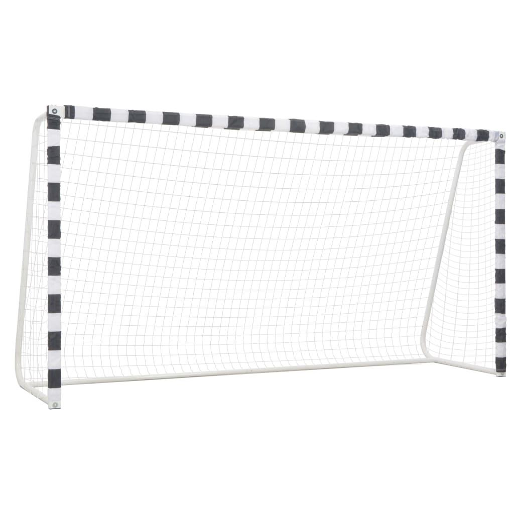 Футбольные ворота 300x160x90 см, металл, черный и белый