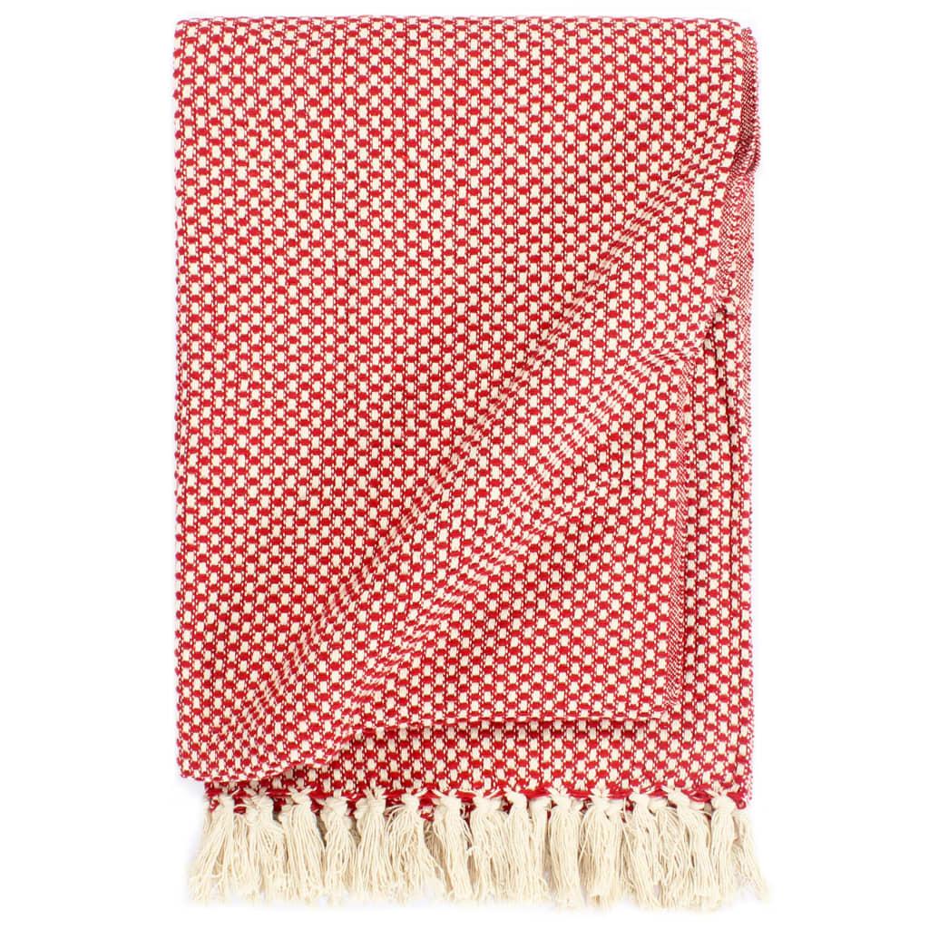 Ρίξτε Βαμβάκι 125x150 cm Κόκκινο