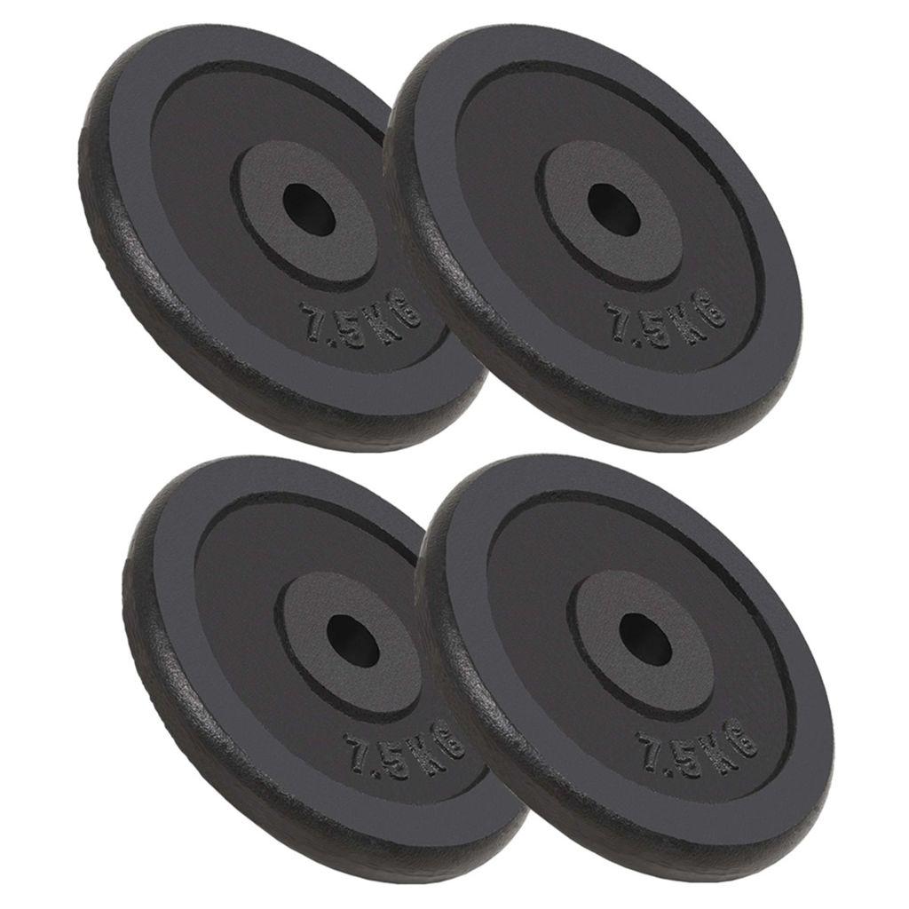 Weight Plates 4 pcs 30 kg Cast Iron