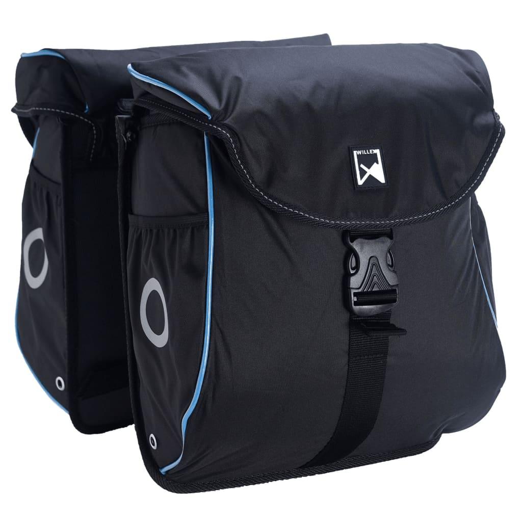 Willex Bicycle Panniers 300 Flexi 24L黒と青