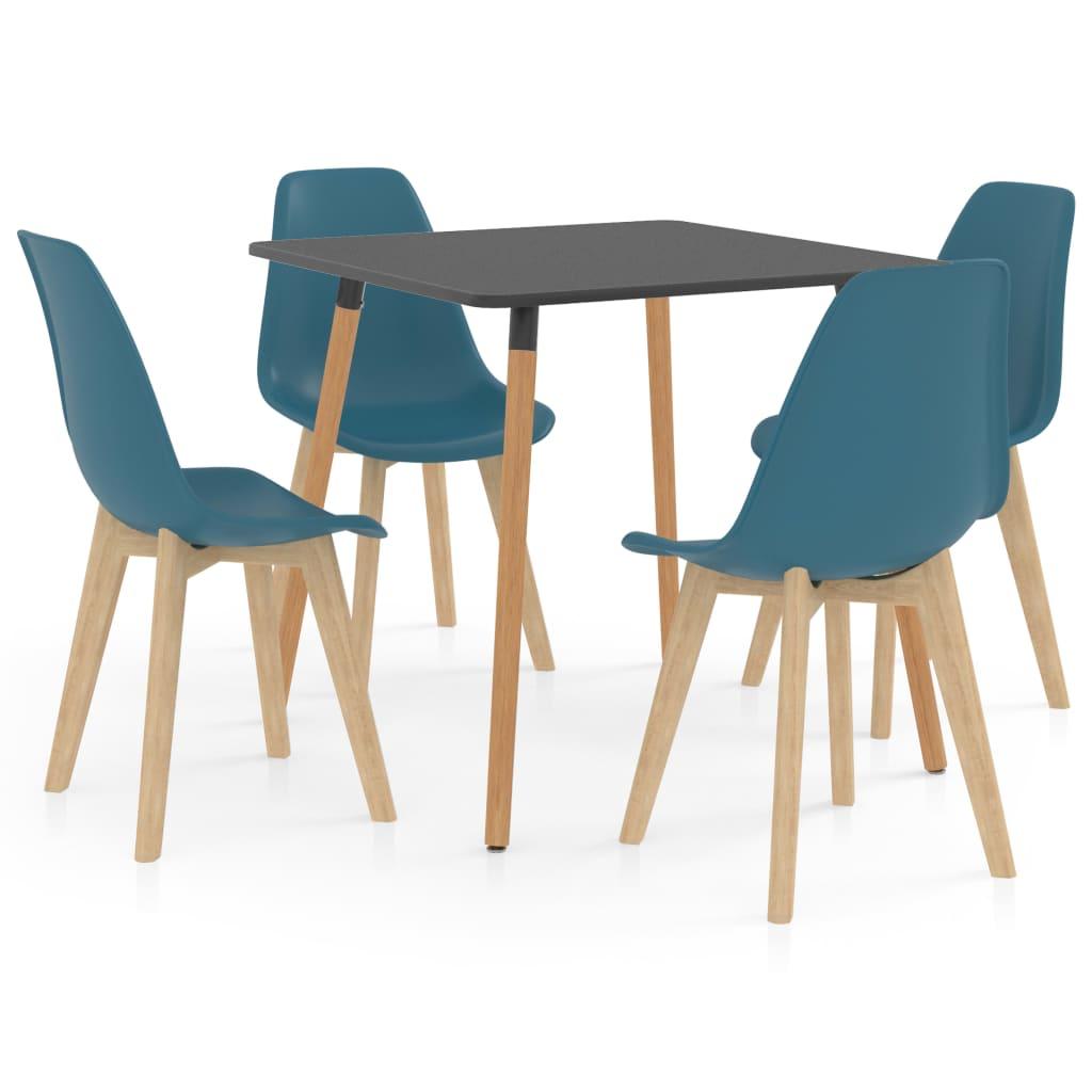 Ensemble de salle à manger 5 pièces Turquoise