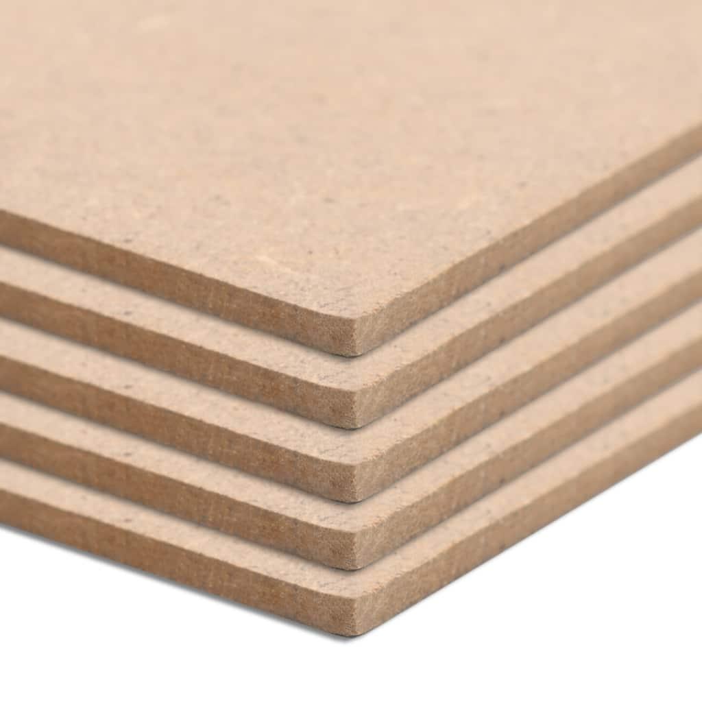 5 pièces feuilles de MDF rectangulaires 120x60 cm 2.5 mm