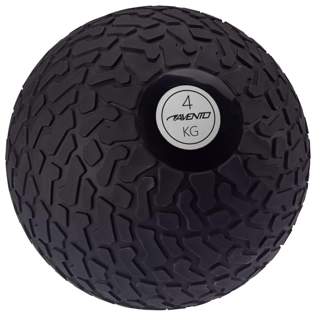 Avento Slam Ball με υφή 4 κιλά μαύρο