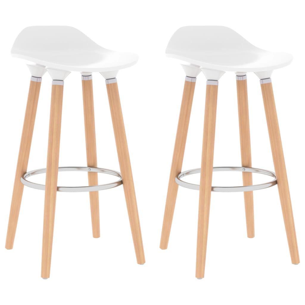 Chaises de bar 2 pcs Blanc