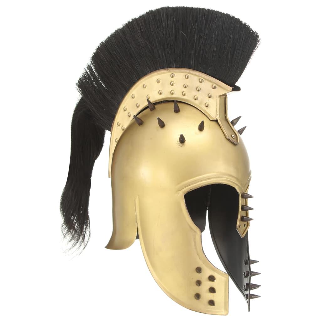 Görög harcos sisak antik replika LARP sárgaréz acél