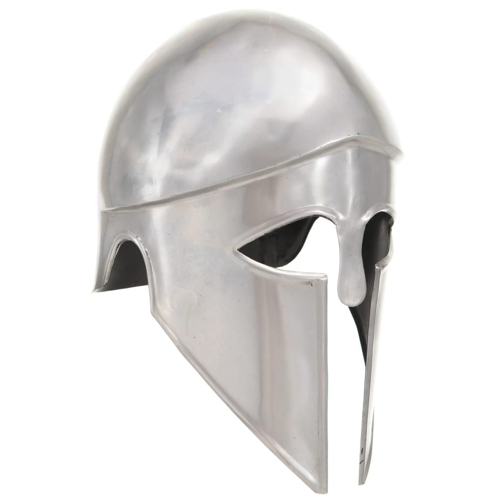 Görög harcos sisak antik replika LARP ezüst acél