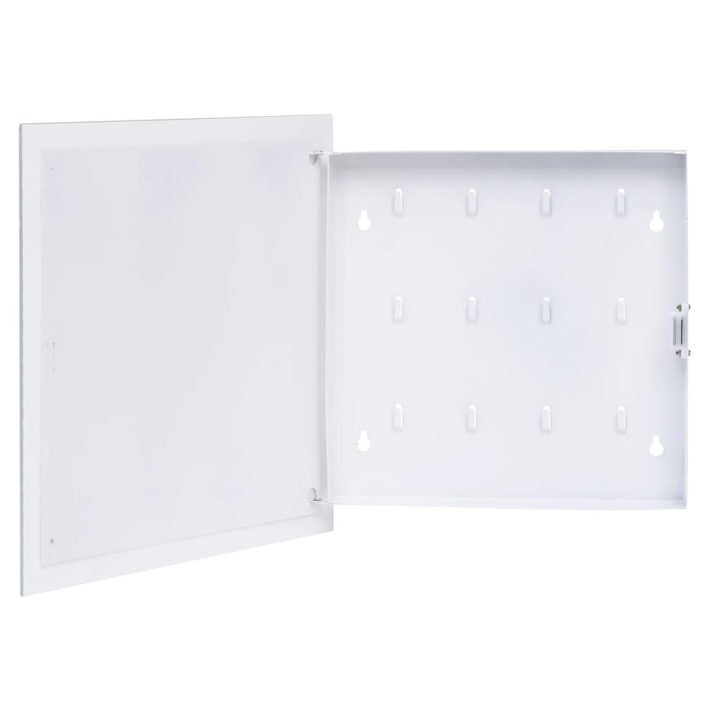 Boîte à clés avec tableau magnétique blanc 35x35x5.5 cm