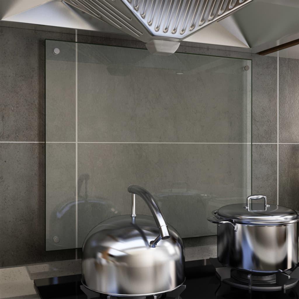キッチンバックスプラッシュ透明70x60cm強化ガラス