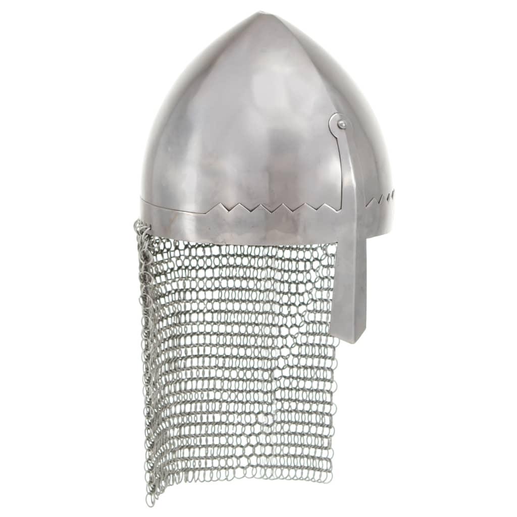 Lovagi sisak antik replika LARP ezüst acél