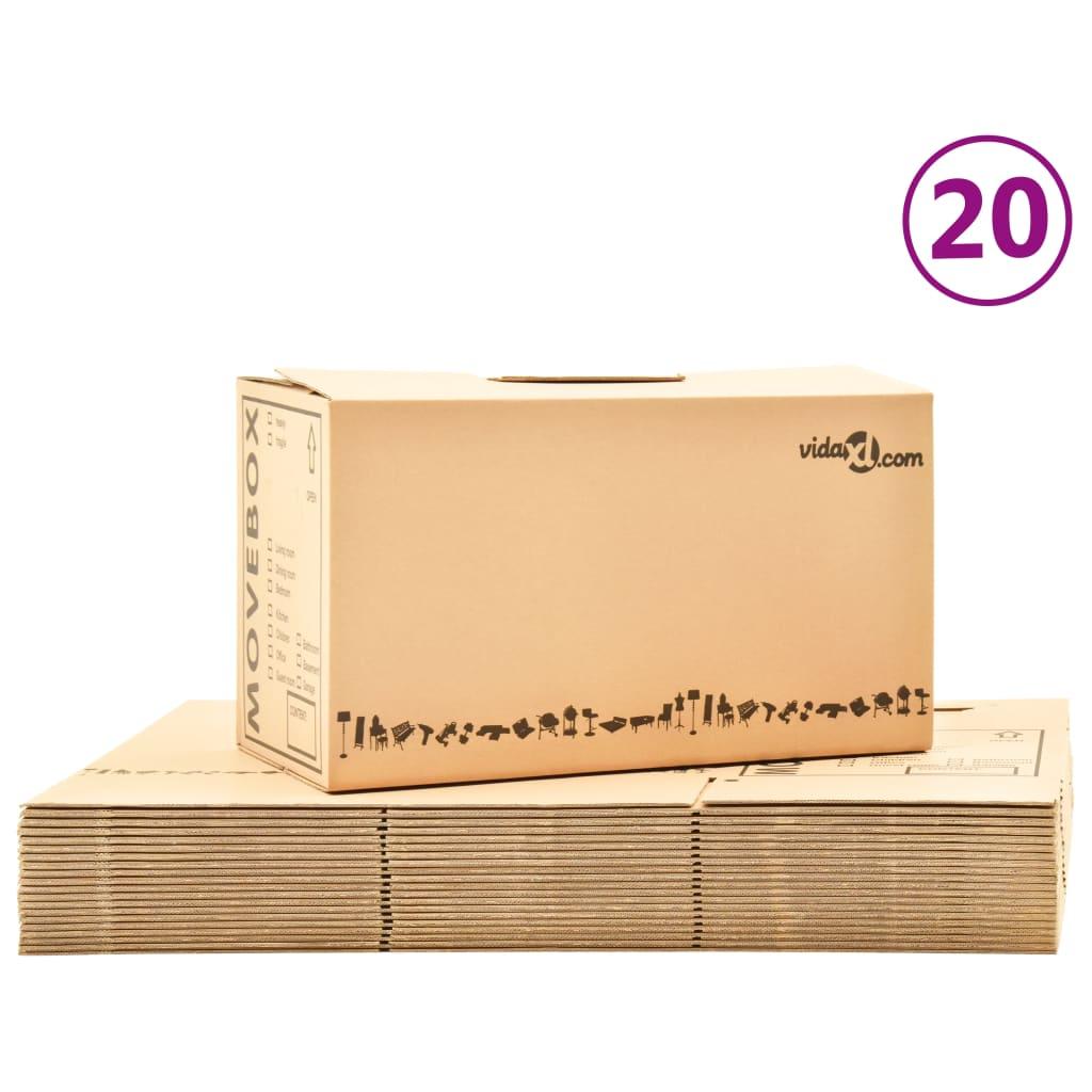 Umzugskartons Karton XXL 20 Stück 60x33x34 cm