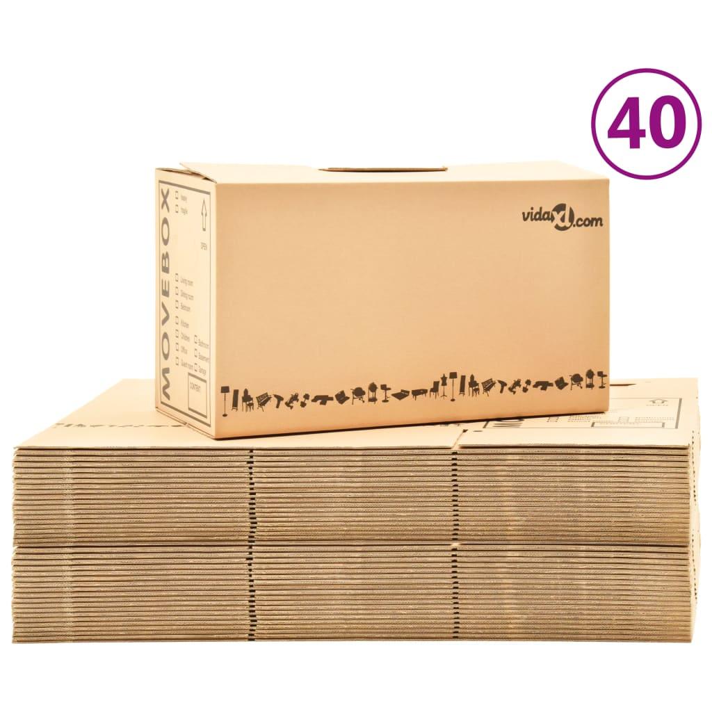 Κινούμενα κουτιά Χαρτοκιβώτιο XXL 40 τεμ 60x33x34 εκ