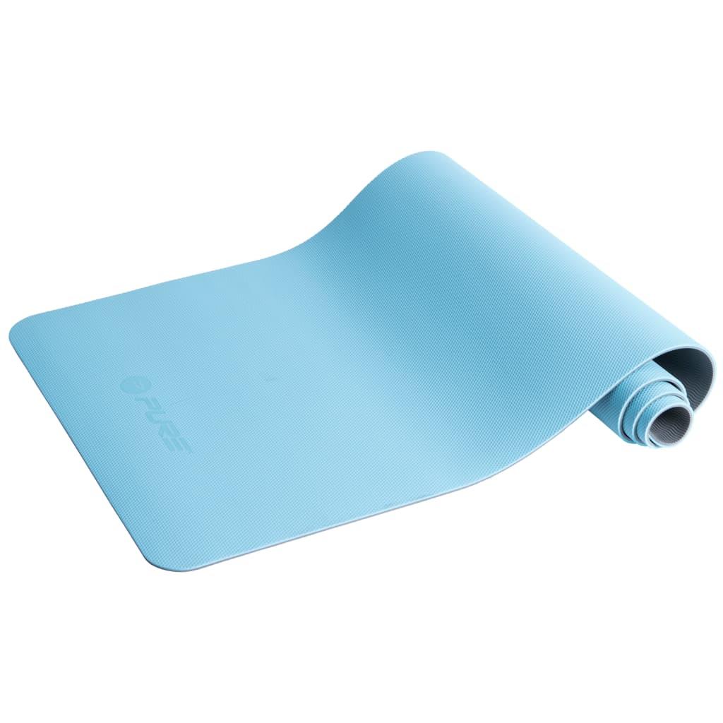 Коврик для йоги Pure2Improve 173x58x0.6 см, синий и серый