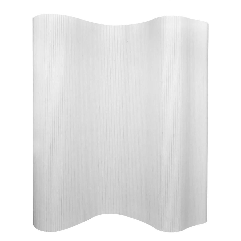 Séparateur de pièce Bambou Blanc 250x165 cm