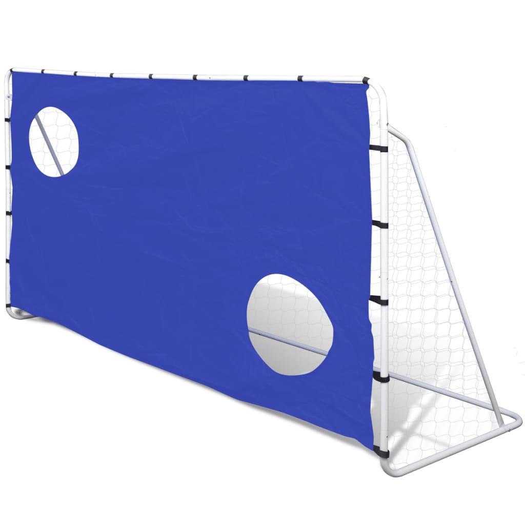 Футбольные ворота с прицельной стенкой, сталь 240 x 92 x 150 см