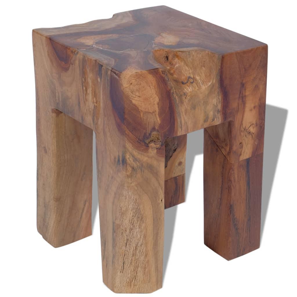 Tabouret en bois de teck massif
