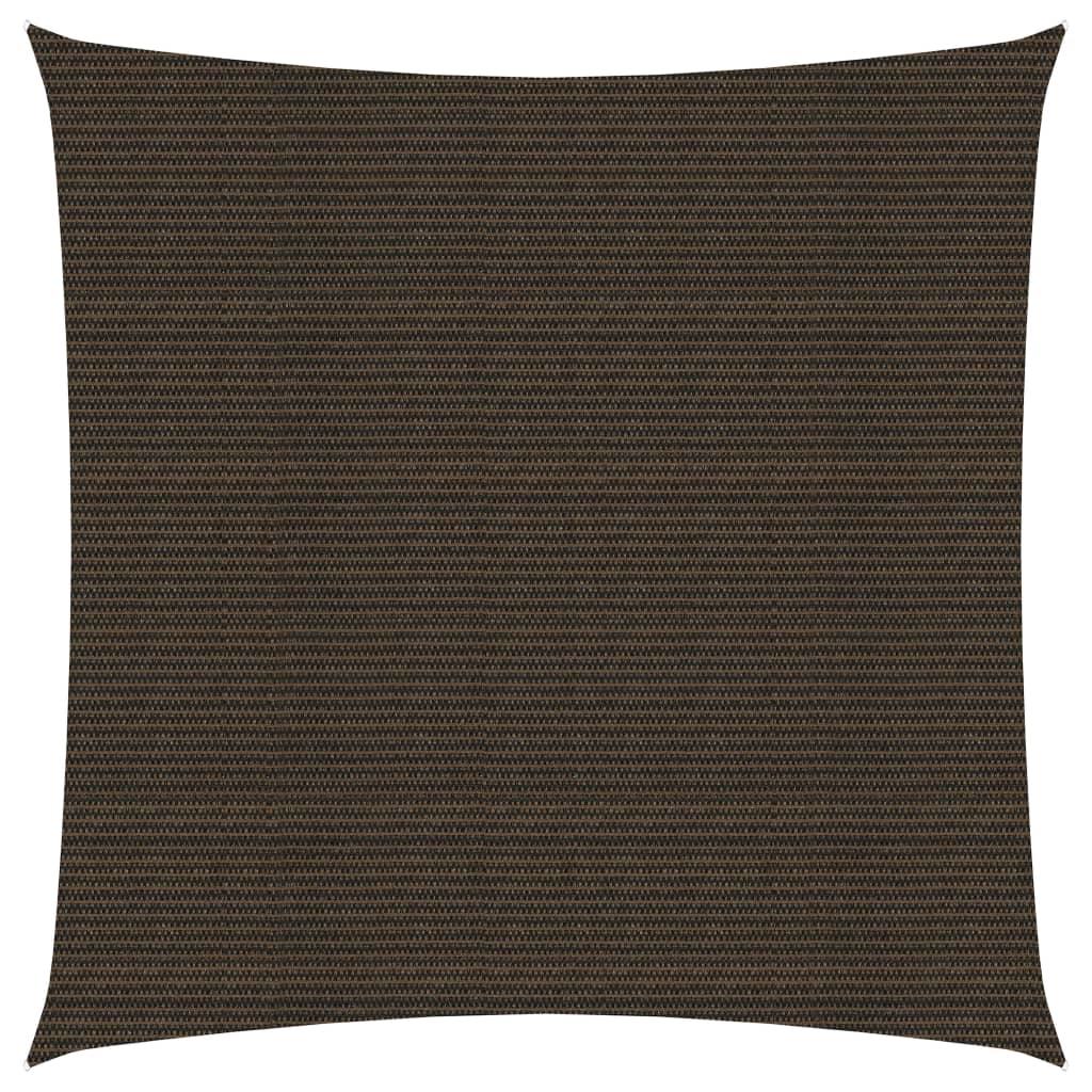 Sunshade Sail 160 g/m² Brown 5x5 m HDPE