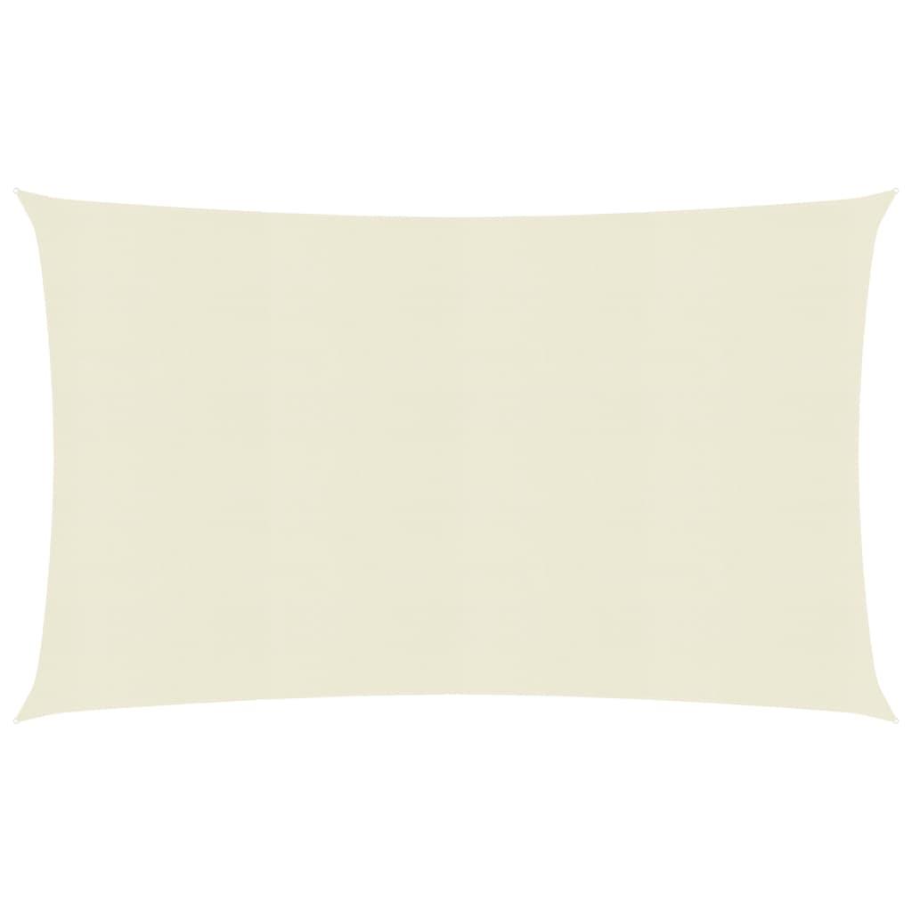 Sunshade Sail 160 g/m² Cream 3.5x5 m HDPE