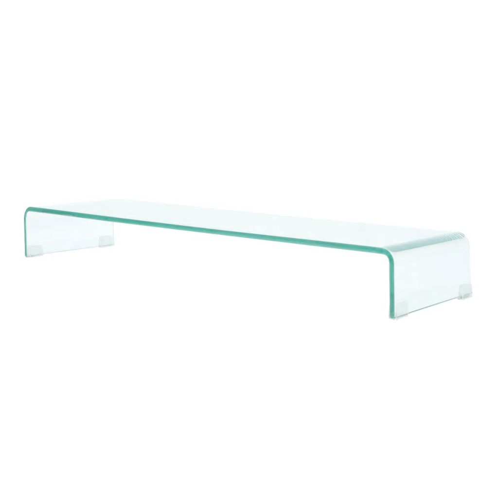 TV Stand/Monitor Riser Glass Clear 100x30x13 cm