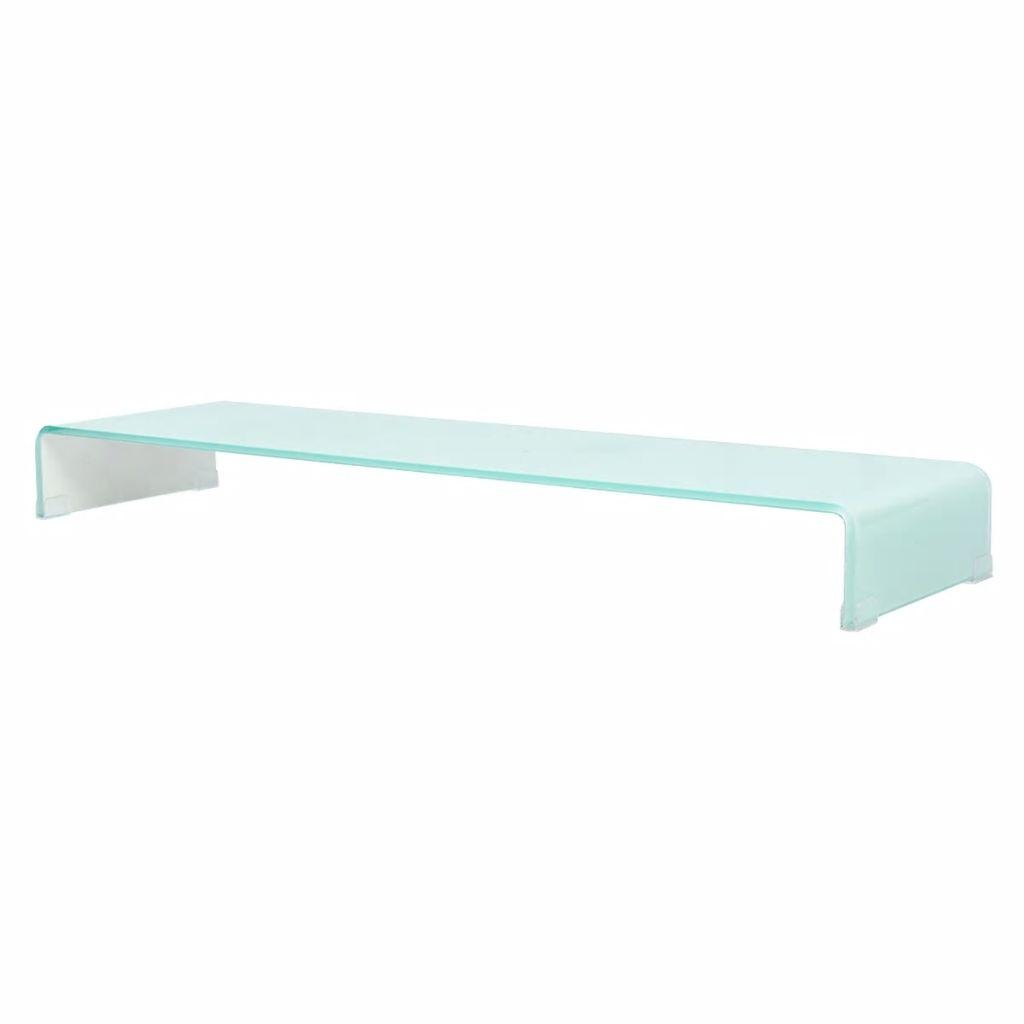 TV Stand/Monitor Riser Glass White 120x30x13 cm