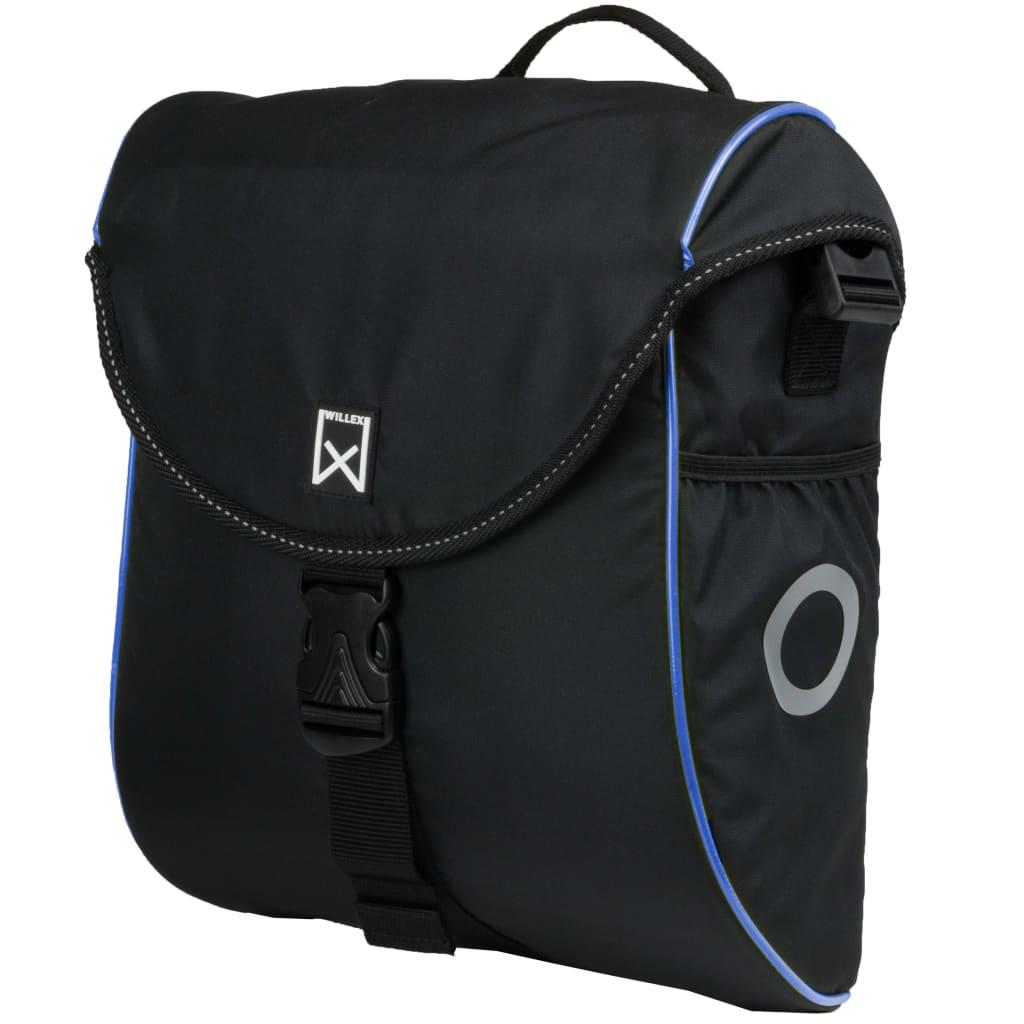ウィレックス自転車パニエ300S 12L黒と青