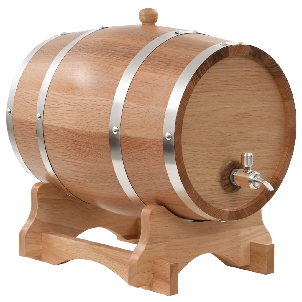 Tonneau à Vin avec Robinet Bois de Chêne Massif 12 L