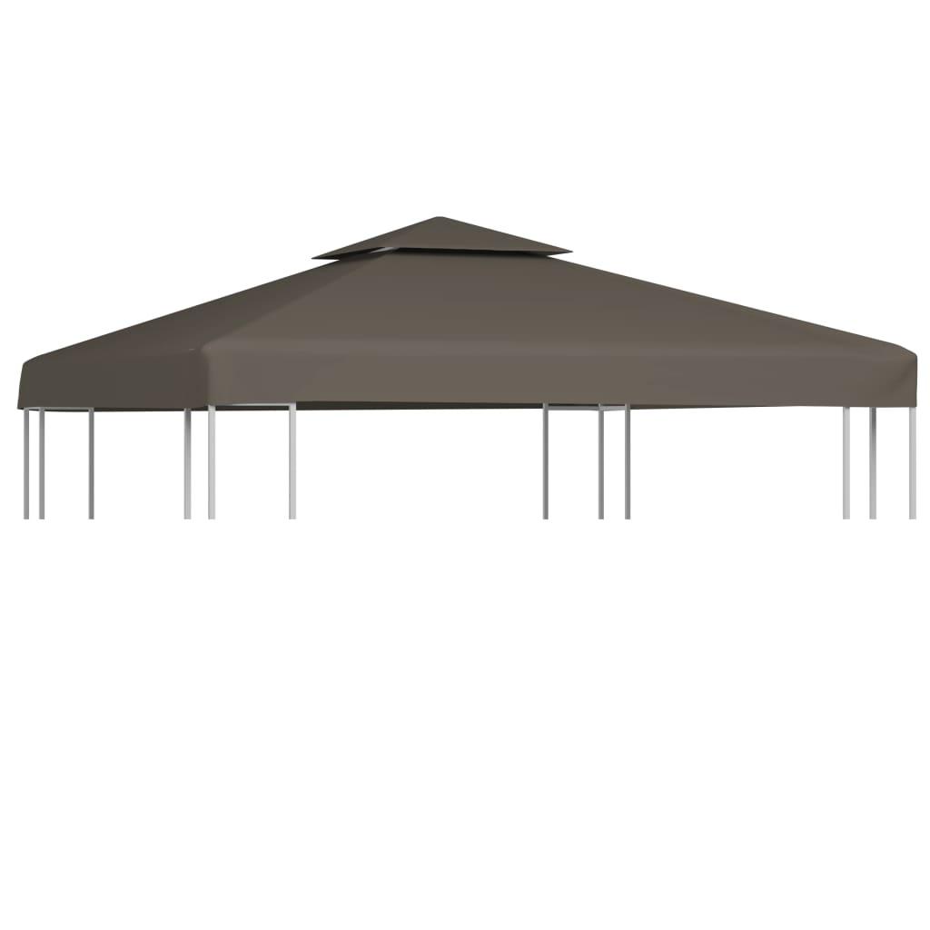 Couverture supérieure pour belvédère 2 niveaux 310 g / m² 3x3 m Taupe