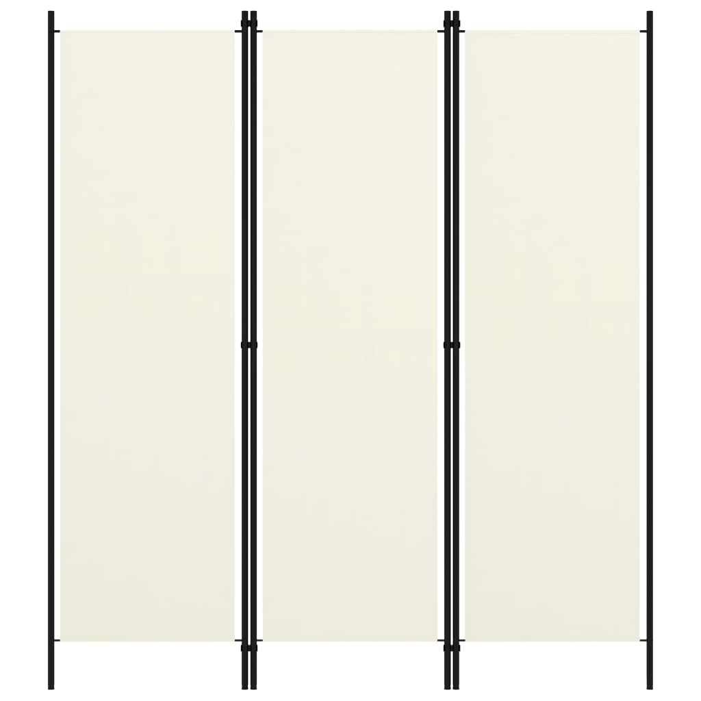 Séparateur de pièce à 3 panneaux blanc crème 150x180 cm