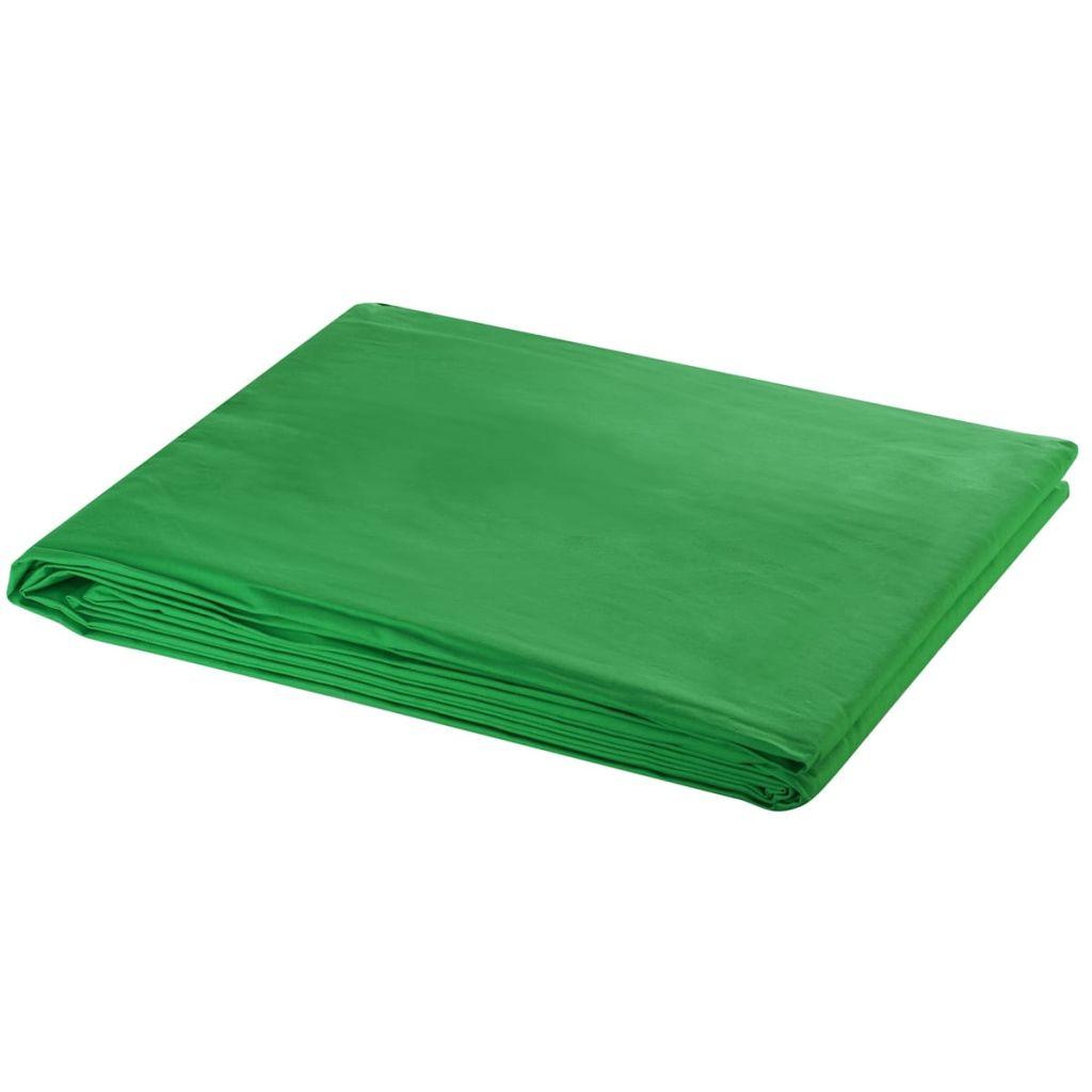 Toile de fond Coton Vert 500x300 cm Clé Chroma
