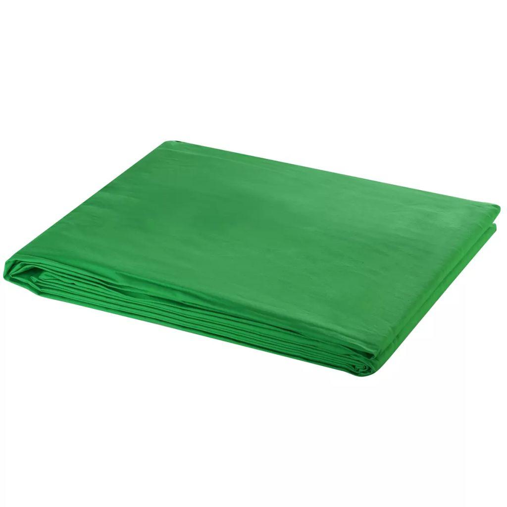 Toile de fond Coton Vert 600x300 cm Clé Chroma