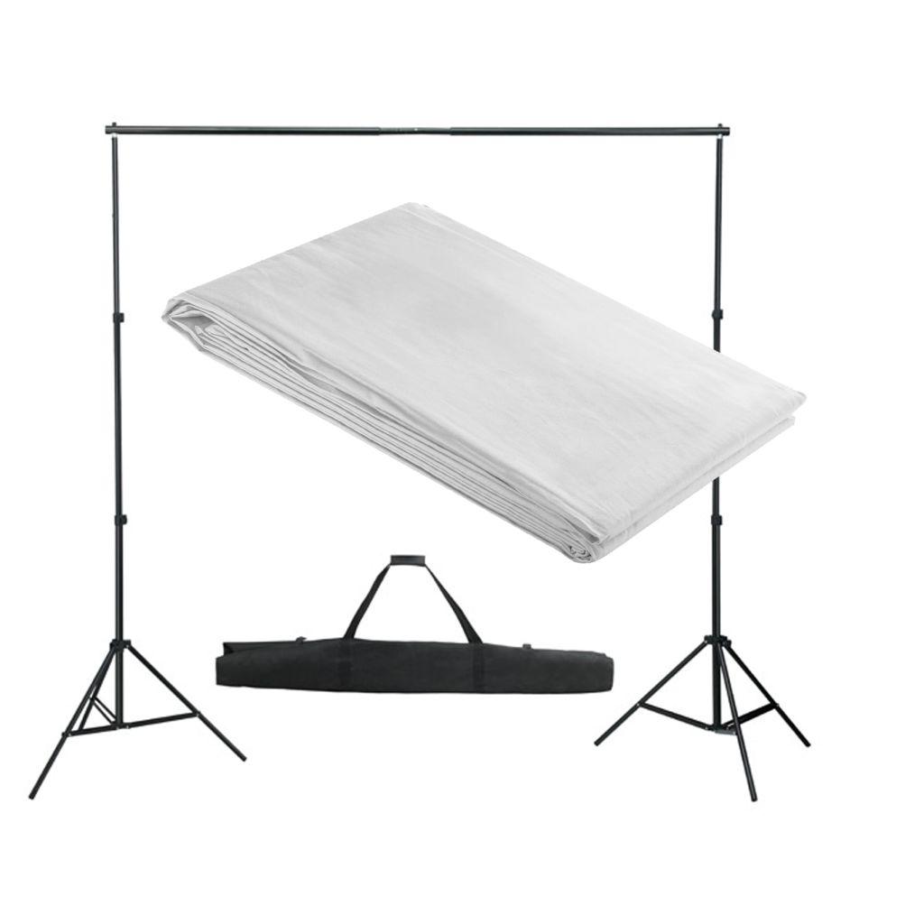 Système de support pour toile de fond 300 x 300 cm Blanc