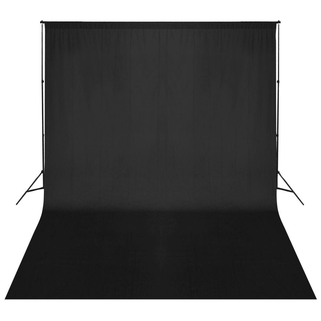 Système de support pour toile de fond 500 x 300 cm Noir