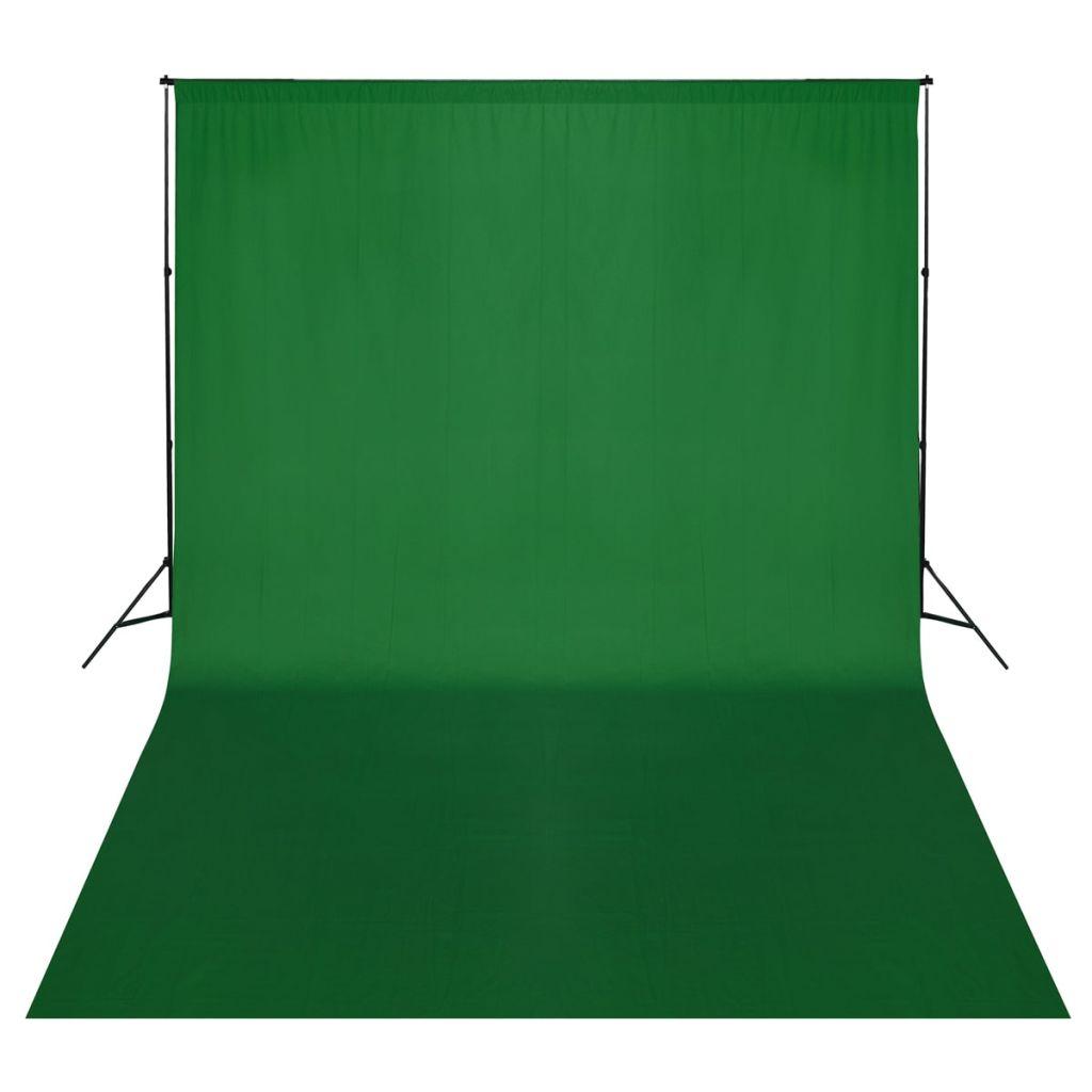 Système de support pour toile de fond 500 x 300 cm Vert