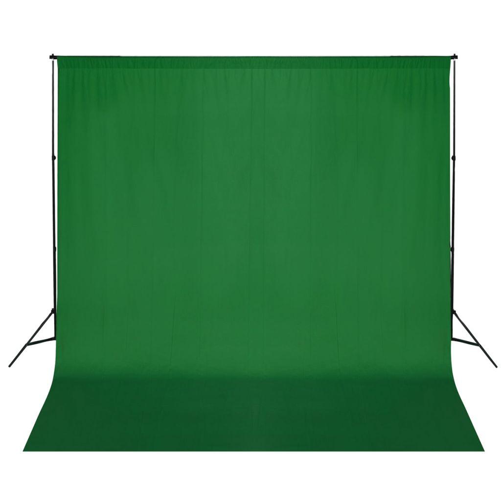 Système de support pour toile de fond 600x300 cm Vert