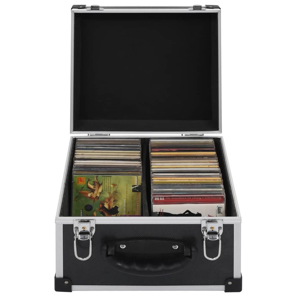 Θήκη CD για 40 CD Αλουμίνιο ABS Μαύρο
