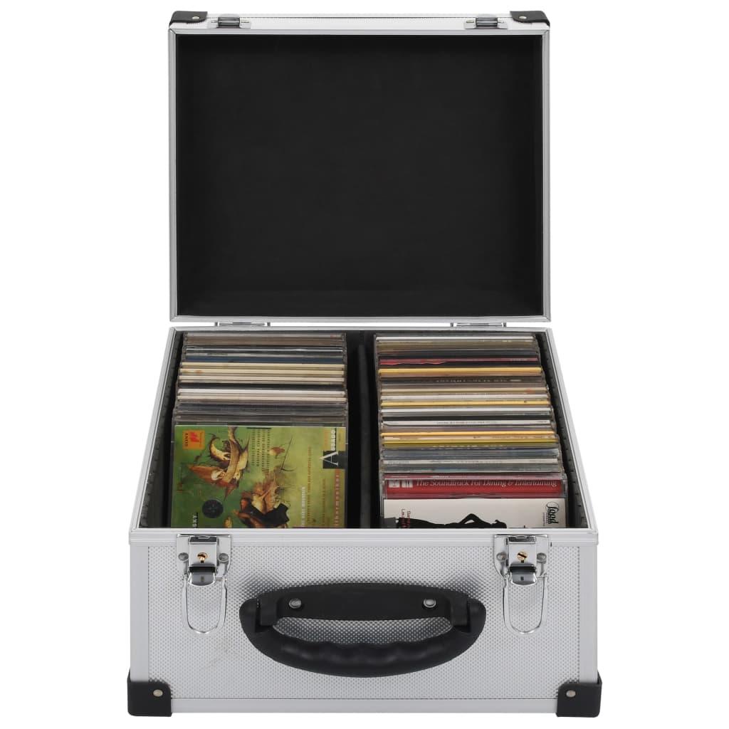 Θήκη CD για 40 CD Αλουμίνιο ABS Ασημί