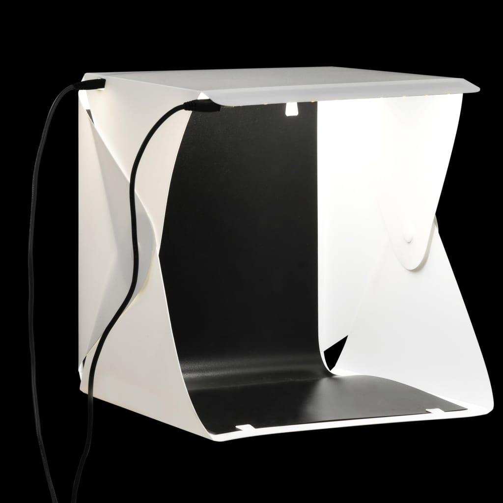 Caisson Lumineux Pliable LED Photo Studio 23x25x25 cm Blanc