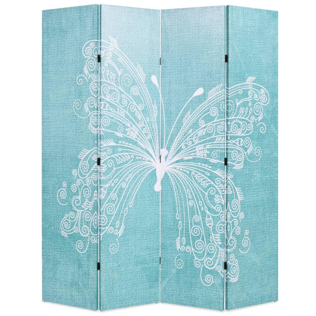 Cloison pliante 160x170 cm Butterfly Blue