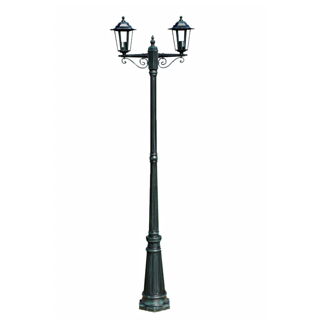 Садовый фонарь с двумя кронштейнами, 2 см, темно-зеленый / черный алюминий