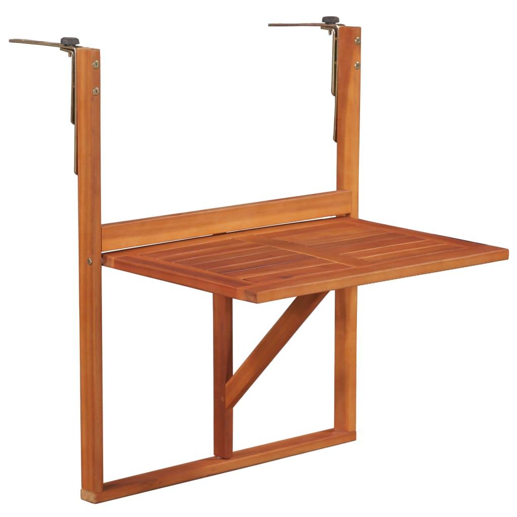 Table de balcon suspendue 64.5x44x80 cm Bois d'acacia massif
